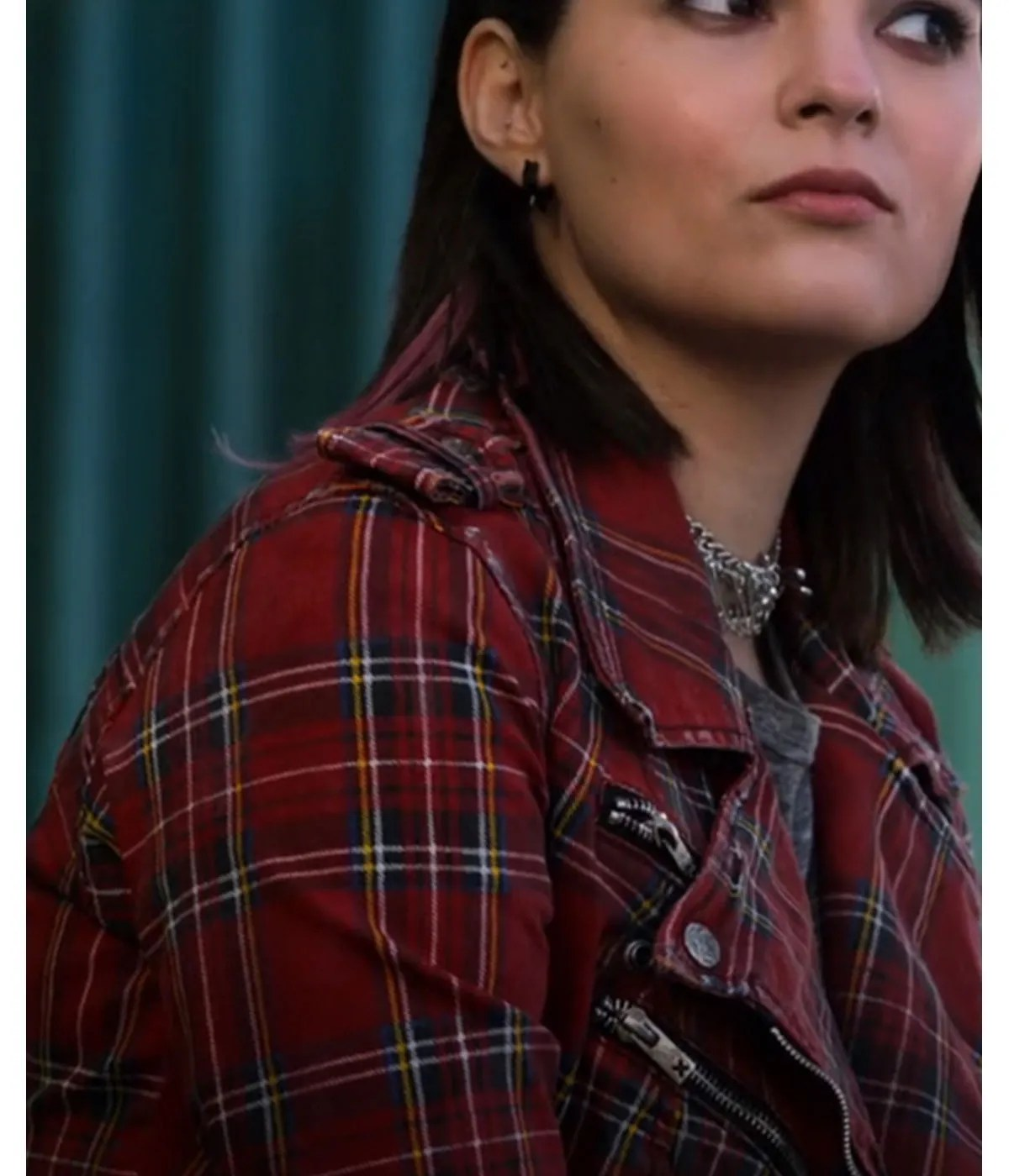 lucifer-plaid-brianna-red-jacket