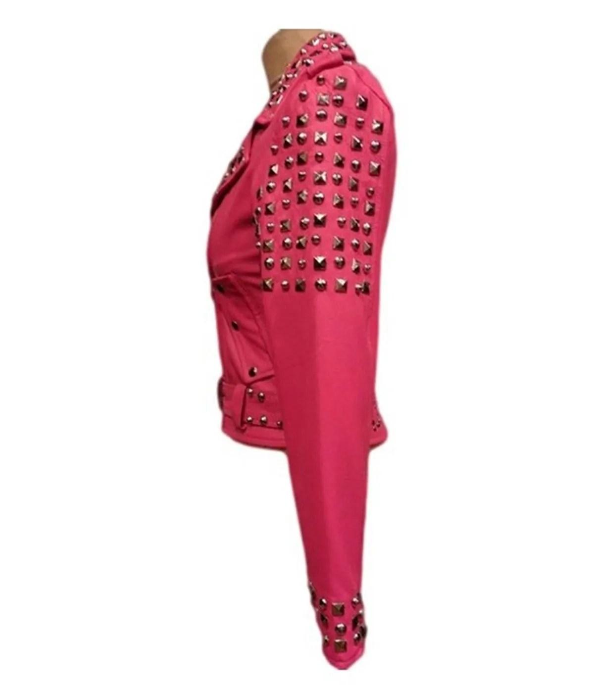 womens-studded-pink-jacket