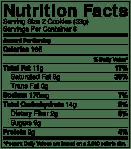 Sunbutter Cookies Nutrition 7.0 oz
