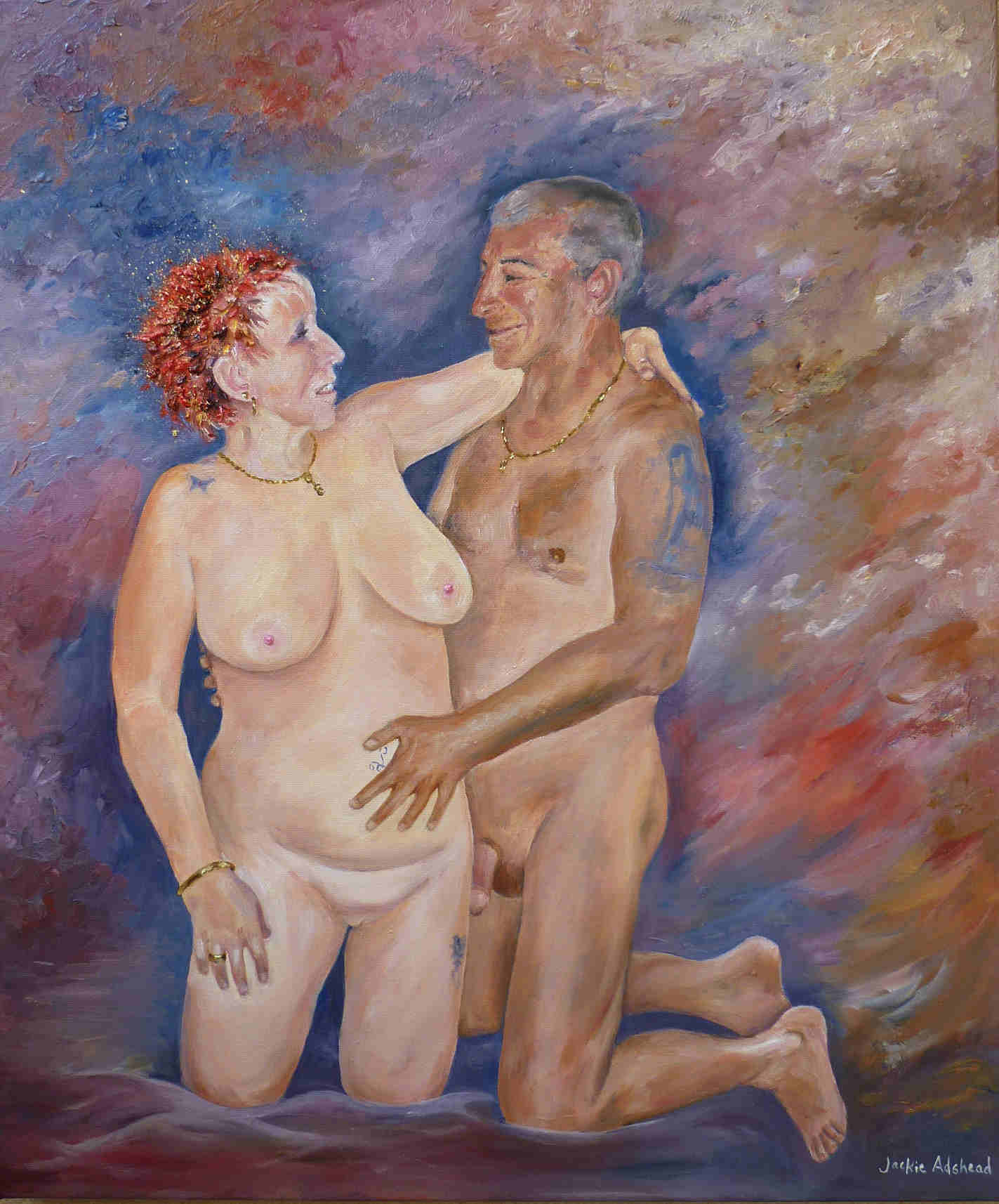 How to paint an erotic oil painting from start to finish