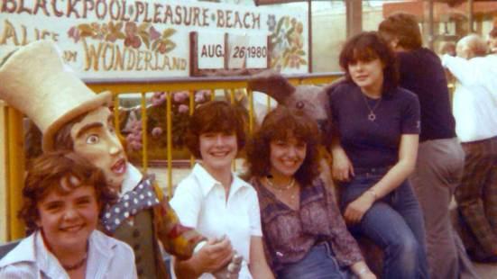 Jackie at Blackpool Pleasure Beach