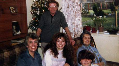 Jackie and Family at Christmas