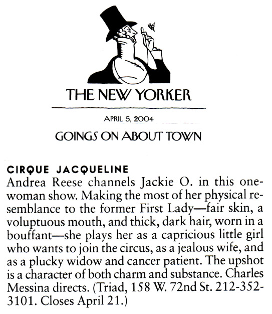 Cirque Jacqueline: Play Reviews