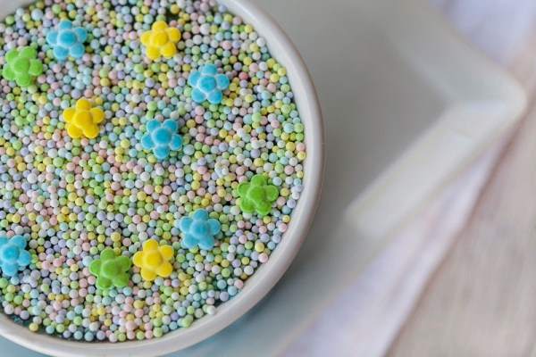 Frozen (or not) Chocolate Cheesecake Mousse with Summertime Sprinkles