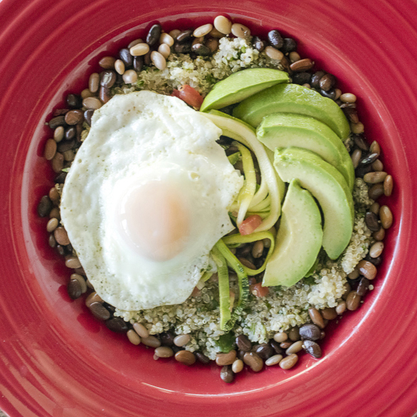 Recipe: Grain Bowl With Green Quinoa, Tepary Beans and Egg