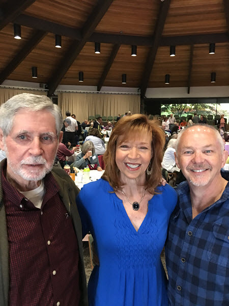 Tom Hill, author, Jackie Trottmann and author William Paul Young