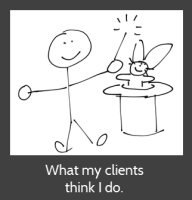 What my clients think I do.