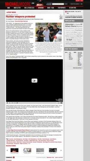 Michael Moore website