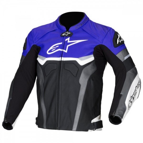 Alpinestars Leather Jacket >> Alpinestars Blue Croes Celer Leather Motorcycle Jacket