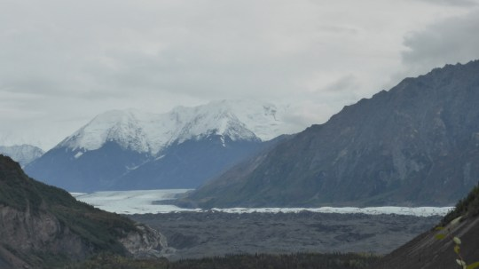 Matanuska Glacier. Photo taken from the Glenn Highway during our drive to Sheep Mountain Lodge.