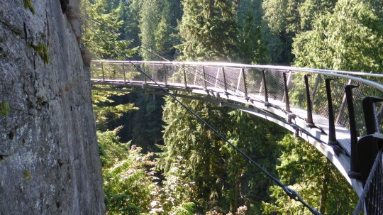 The cantilevered Cliff Walk at Capilano Suspension Bridge facility.