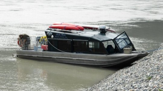 The jet boat for our river safari.