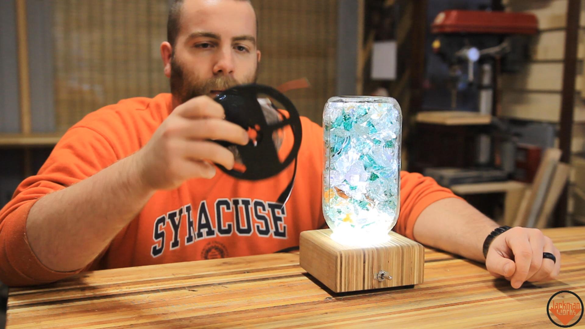 32 jackman works jackman worksupcycled glass lampsled lampsmodern furniturediy lampled strip lightconcrete pendant5 volt strip lightlampsolderingsolderworkshop solutioingenieria Images