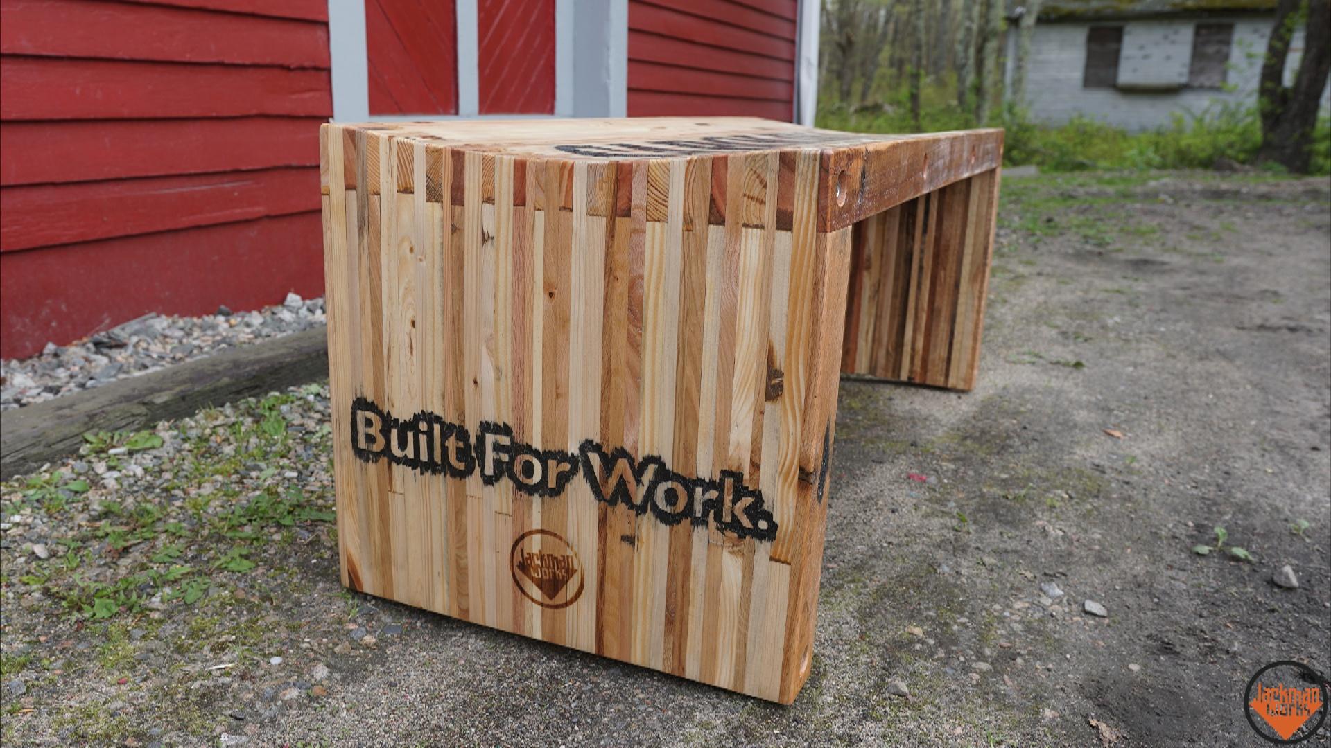 Pallet Wood Slat Bench 47 Jackman Works