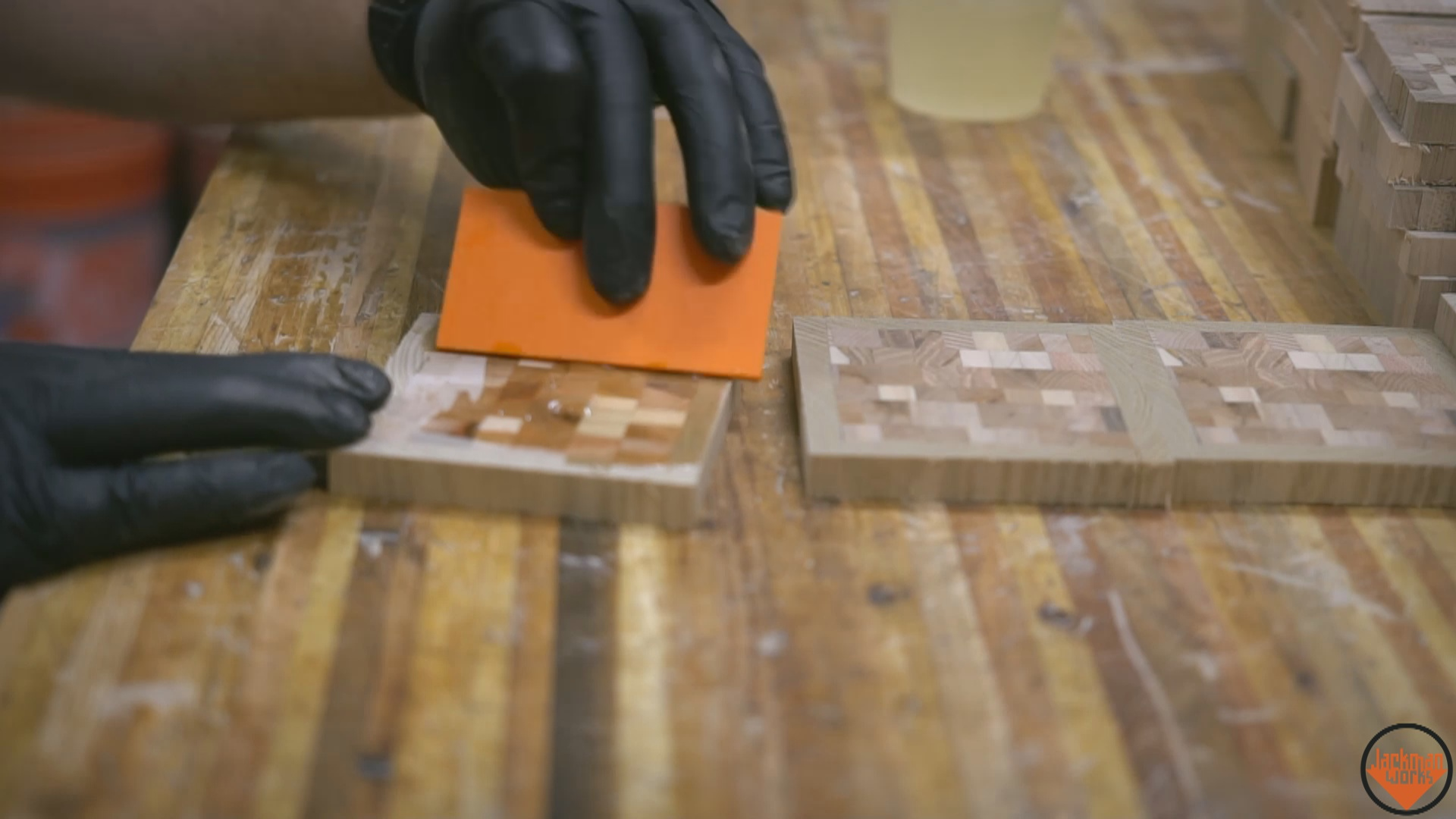 pallet wood end grain coasters 23 Jackman Works