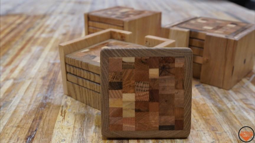 Pallet Wood End Grain Coasters - Jackman Works