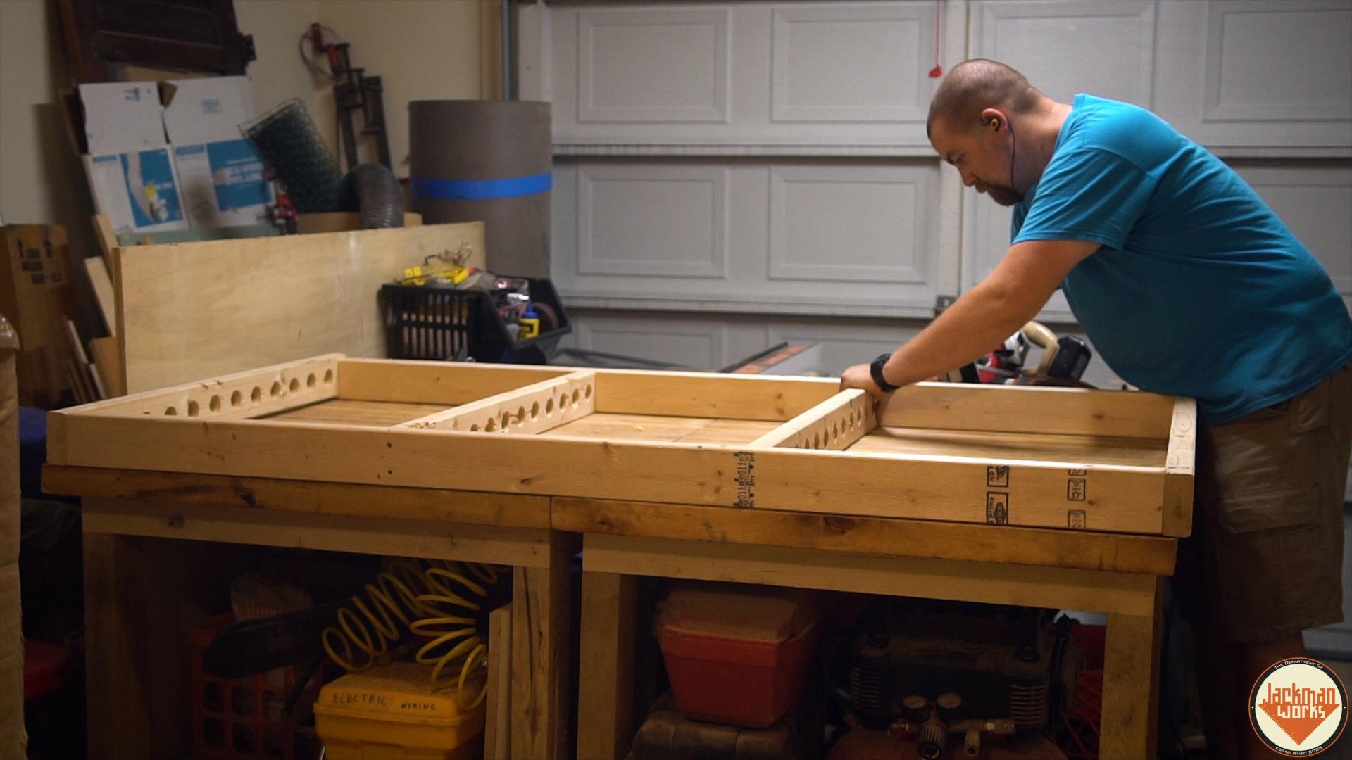 Floating Garage Storage Loft And Clamp Rack 11 Jackman Works