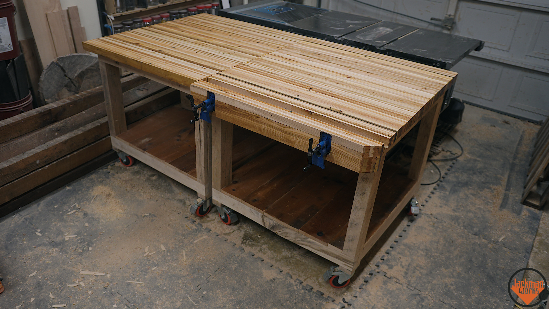 Pallet Wood Pipe Clamp Workbench Vise 26 – Jackman Works