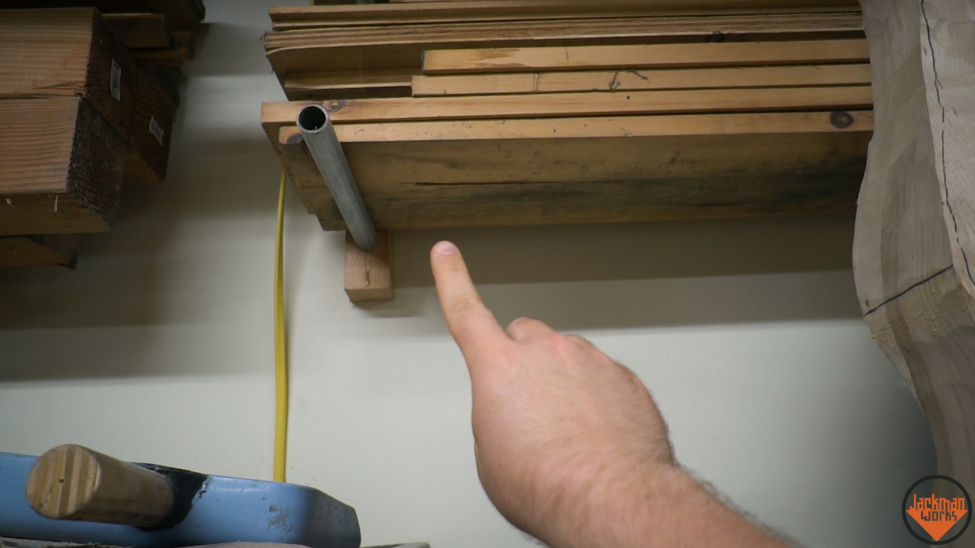 Floating Lumber Rack 3 Jackman Works