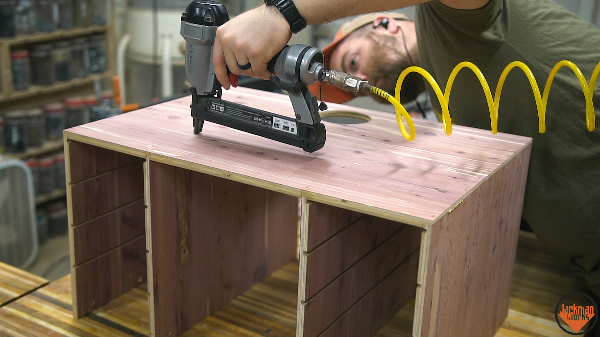 Router table storage cabinet 17 jackman works jackmanjackman worksfence systemrouter tablehow to build a router table woodworkingrouter liftshop storagestorageorganizationworkshop organization greentooth Gallery