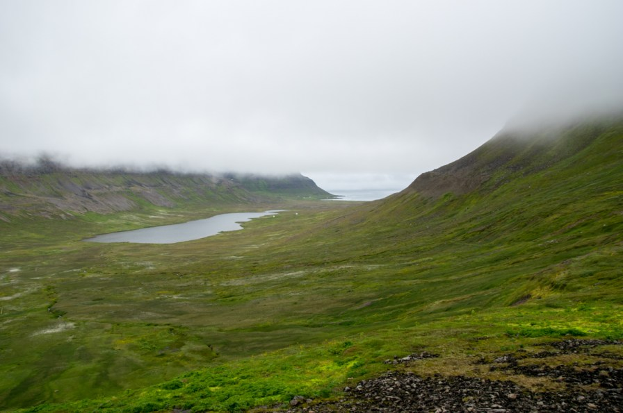Looking back to Aðalvík