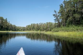 Paddling to French Lake