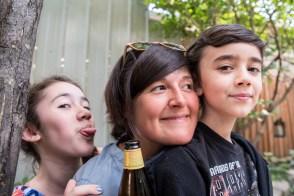 Emy, Nina and Mati having fun