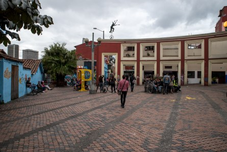 square in front of hostel