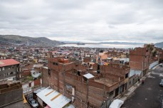 view over Puno and the Titicaca Lake
