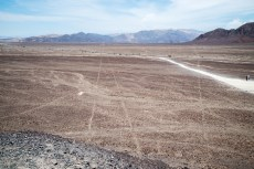 Nasca lines leading to rivers or graveyards