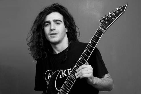 Portrait of a guitarist.