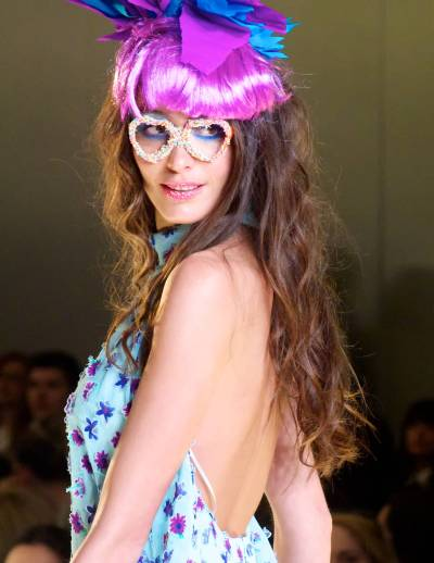 A model in the third day of Athens Xclusive Designers Week