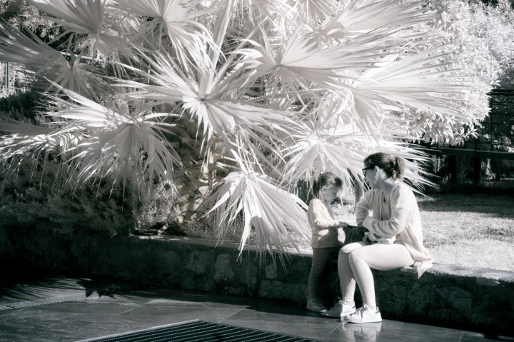 Mother and Child (Infrared Street Photo)
