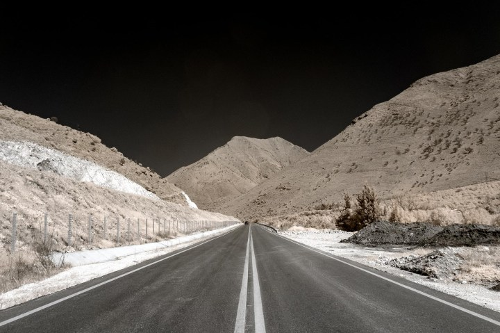 A Road through the Mountains (A colour infrared photo taken at Epirus)