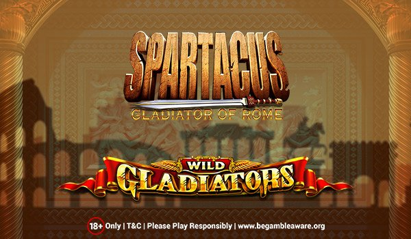 Play Spartacus Gladiator of Rome and Wild Gladiators Slots