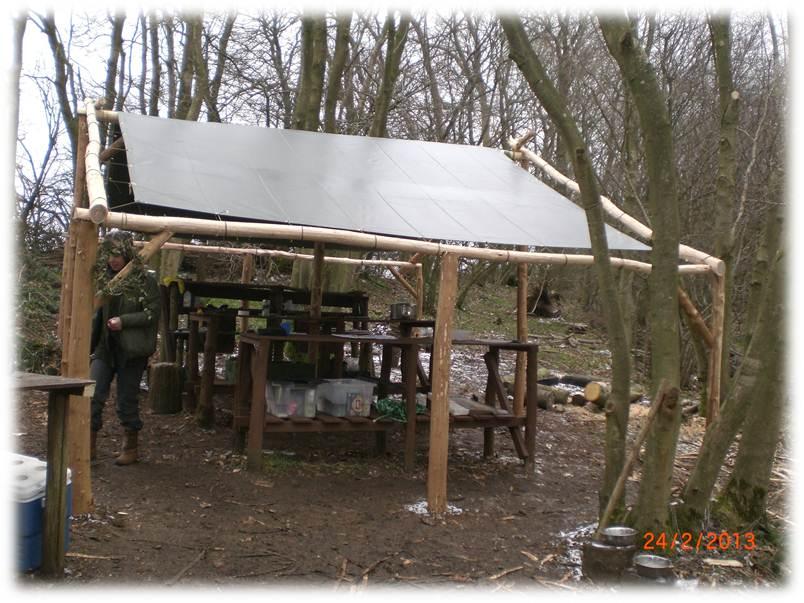 camp maintenance weekend | bushcraft camp | Kent