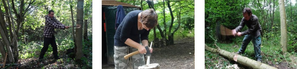 Axe workshop in Kent, south east England