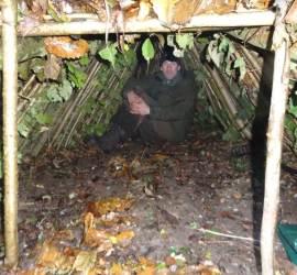2 person debris shelter   bushcraft   Kent