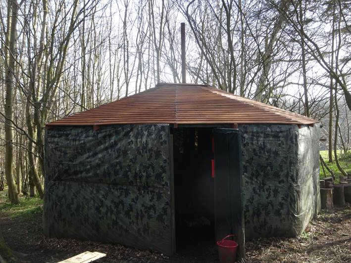 yurt roof | bushcraft camp | south east | Kent
