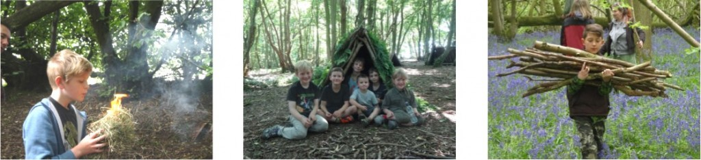 Bushcraft for schools in Kent, south east, London, UK
