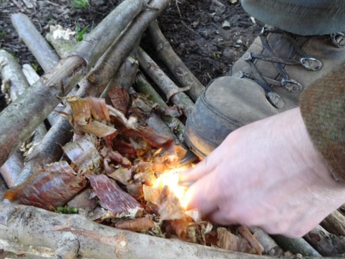 one handed fire lighting