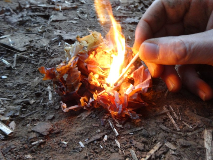 fire lighting with matches | bushcraft | Kent | London | south east