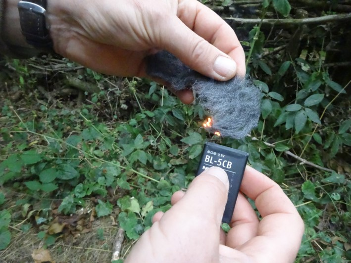 Using electricity to light a fire