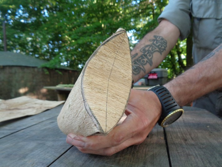 bark containers   bushcraft   Kent   south east   London