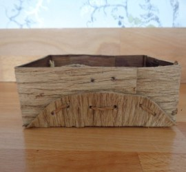 another folded bark container | bushcraft | Kent | south east | London