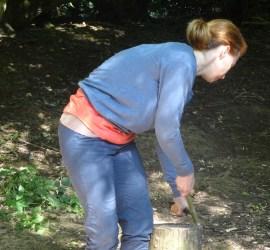 making a wedge | knife skills | bushcraft | Kent | London | south east