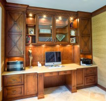 Custom Home Office Cabinets Built-in