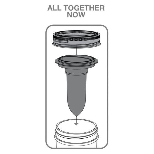JarWare Mason Jar Salt and Pepper Shaker #82627 Seasoning