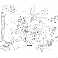 Fender Mustang Guitar Wiring Diagram Boat Trailer Nz Jaguar Schematic  Interesting To See All The Parts