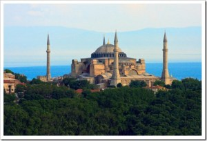 Hagia Sophia Church in Istanbul. Now a Muslim museum.